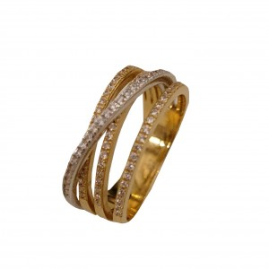 Anel Bicolor Ouro 19.2kt