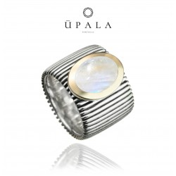 Ring Upala silver and gold