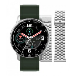 Smartwatch Times Square 44mm Silver Green